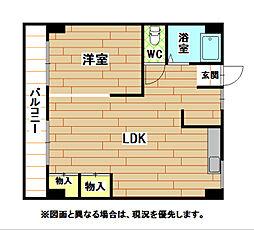 福岡県北九州市小倉北区熊本1丁目の賃貸アパートの間取り
