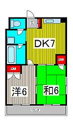 ピースフルハイツ[2階]の間取り