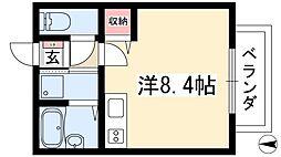 サン・friends八事 2階ワンルームの間取り