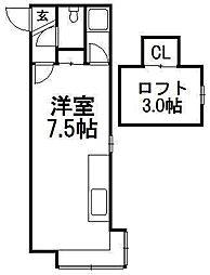 クリエイト澄川II[205号室]の間取り