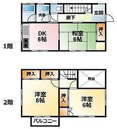 [一戸建] 千葉県東金市滝沢 の賃貸【/】の間取り