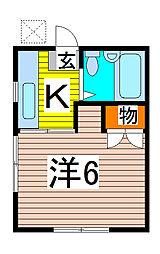 コ−ポシンカイ[203号室]の間取り