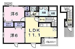 ソレイユA・B[2階]の間取り