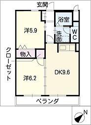 グリーンハイツ斉藤[1階]の間取り