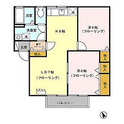 サンボナール C[2階]の間取り