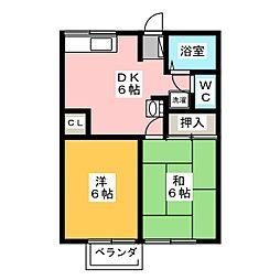 ソファレ緑[2階]の間取り