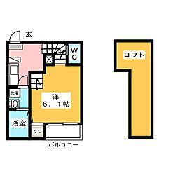 愛知県名古屋市熱田区大宝4の賃貸アパートの間取り