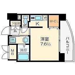 ウィスタリア京橋[2階]の間取り
