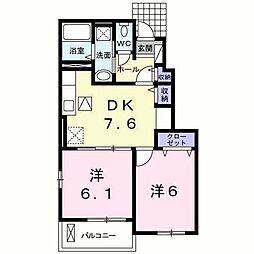 サンモールK(平田町)[?102 号室号室]の間取り