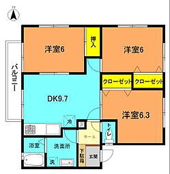 湘南330C[102号室]の間取り