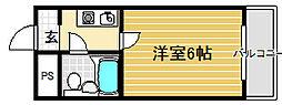 COCO堺東2[3階]の間取り
