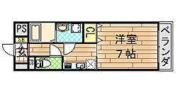 ゼファー東大阪[1102号室]の間取り