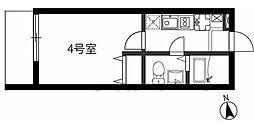 東急東横線 日吉駅 徒歩10分の賃貸アパート 1階1Kの間取り