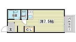アドバンスコーポ北条[206号室]の間取り