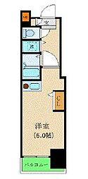 カスタリア新宿 14階ワンルームの間取り