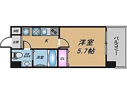 大阪府大阪市北区中津6の賃貸マンションの間取り