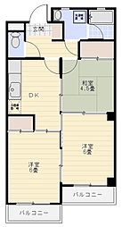 レジデンス熊谷[109号室]の間取り