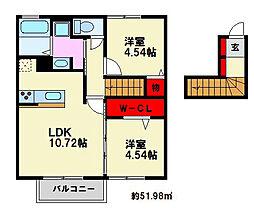 D-room花畑 弐番館[101号室]の間取り