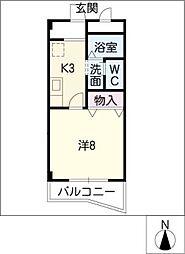 コーポ・富[2階]の間取り