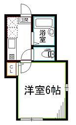 JR総武線 阿佐ヶ谷駅 徒歩6分の賃貸アパート 2階1Kの間取り