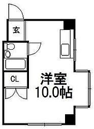 ローヤルハイツ712B棟[203号室]の間取り