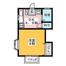 ミユキハイツI[2階]の間取り