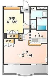 兵庫県姫路市青山3丁目の賃貸マンションの間取り