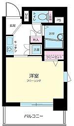 東京都中野区松が丘1丁目の賃貸マンションの間取り