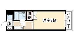 愛知県名古屋市瑞穂区苗代町の賃貸マンションの間取り