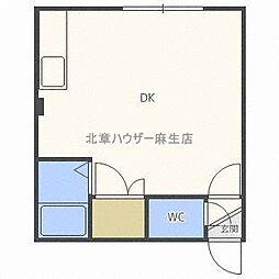 フロンティアKII[3階]の間取り