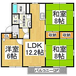 LaPLACE神戸A[2階]の間取り
