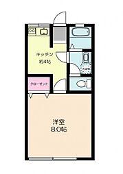 和泉コーポ[2階]の間取り