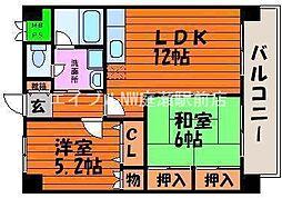 エクレール21II[1階]の間取り