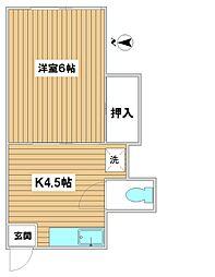 山田荘[202号室]の間取り