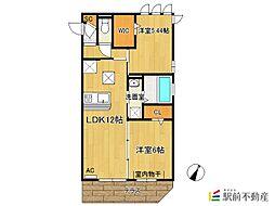 (仮)D-room新生町[205号室]の間取り
