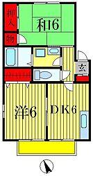フラワーコート B棟[B202号室]の間取り