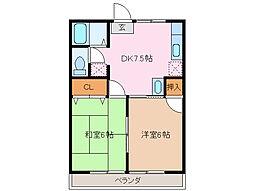 サクセス21[1階]の間取り