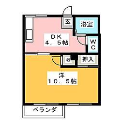 フォーヴル浄心[2階]の間取り