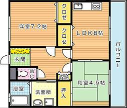 コーポ公栄[3階]の間取り