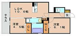 リソネT3[1階]の間取り