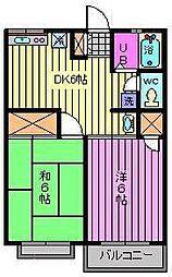 星野ハイツIII[2階]の間取り