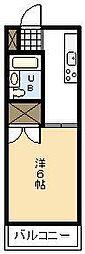 鶴島コーポ[102号室]の間取り