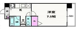 京都府京都市南区吉祥院西ノ内町の賃貸マンションの間取り
