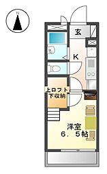 OMレジデンス上飯田[1階]の間取り