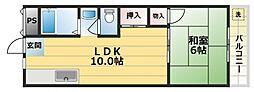 グリーンハイツ竜田[2階]の間取り