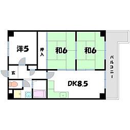 アトレOSマンション[4階]の間取り