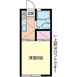 神奈川県相模原市南区相南3丁目の賃貸アパートの間取り
