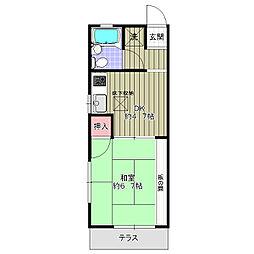 コ−ポ新井[1階]の間取り