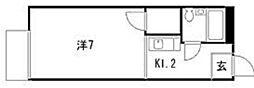 埼玉県さいたま市北区東大成町1丁目の賃貸アパートの間取り