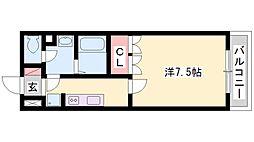 シャンピニオンII[2階]の間取り